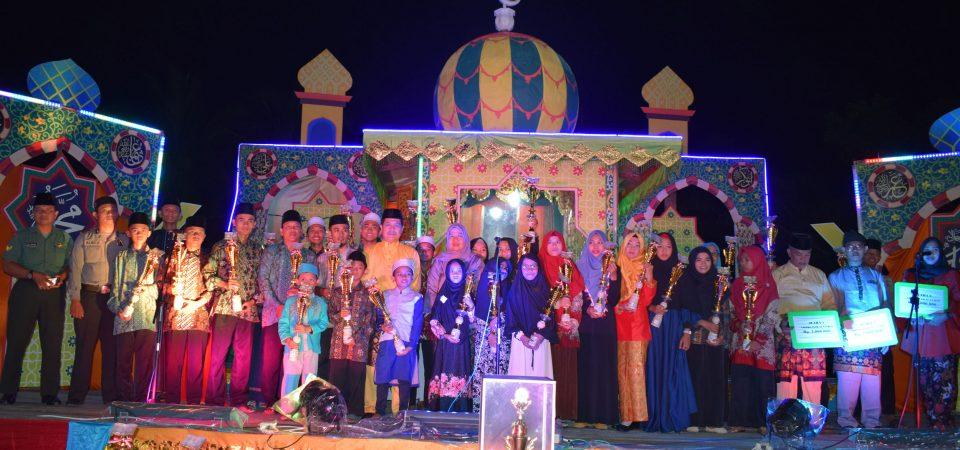 Penutupan  MTQ Tingkat Kecamatan Tungkal Ilir Ke-48 Tahun 2018 Kelurahan Tungkal IV Kota sebagai Juara Umum