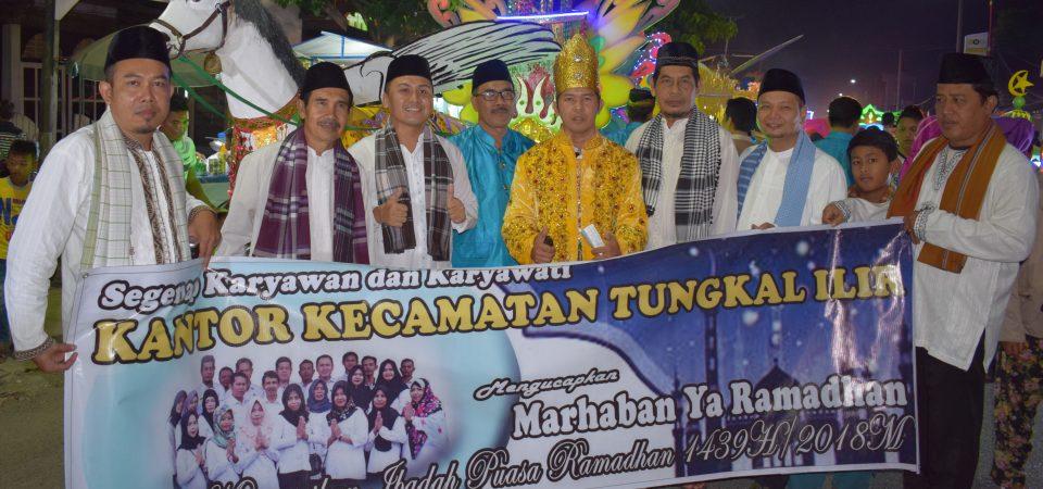 Kantor Kecamatan Tungkal Ilir ikut serta dalam Fastival Arakan Sahur Ramadhan Tahun 1439H/ 2018M